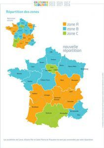 French school holidays zones
