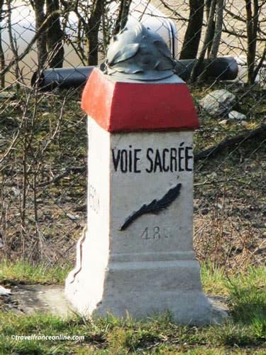 Bollard along the Sacred Way - Voie Sacree