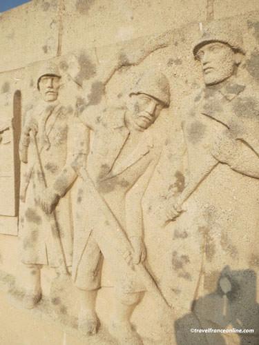 Sacred Way - Voie Sacree Memorial - Frieze depicting workmen
