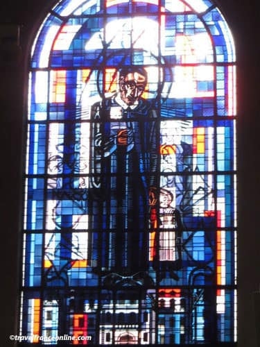 Saint Francois Xavier Church - Stained-glass window depicting St. Francois-Xavier