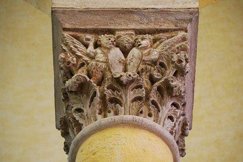 Notre-Dame-du-Port Basilica - carved capital