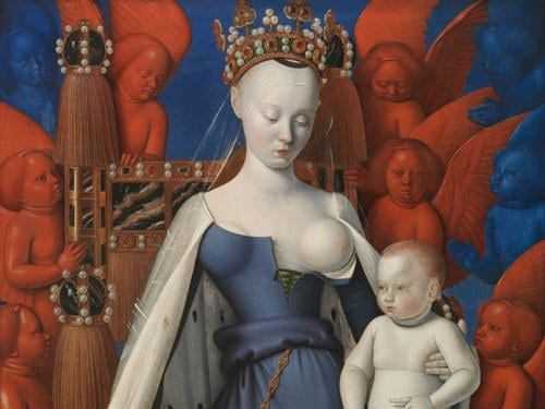 Royal City of Loches - Madonna by Fouquet