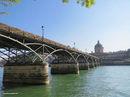 Pont des Arts and dome of the Institut de France