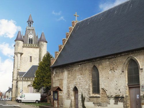 Belfry and Chapelle de l'Hospice in Rue