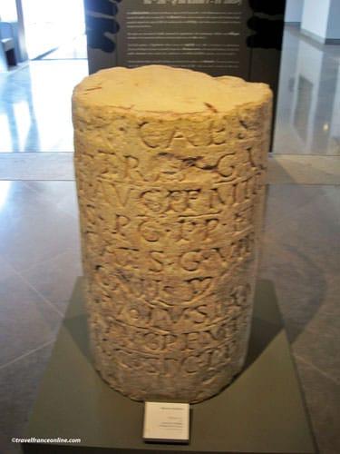 Fenaille Museum - Gallo-Roman engraved column