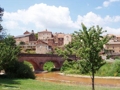 Montlaur bridge and village