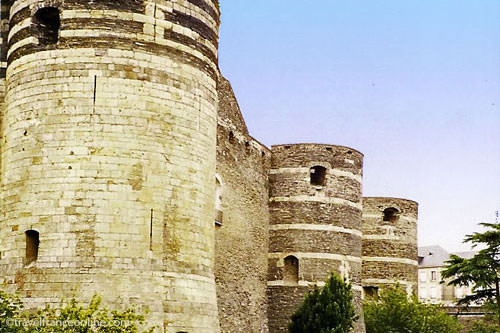 Angers castle - medieval towers