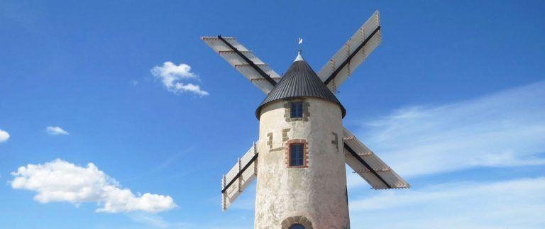 Moulin de Rairé, a windmill in constant use since 1555