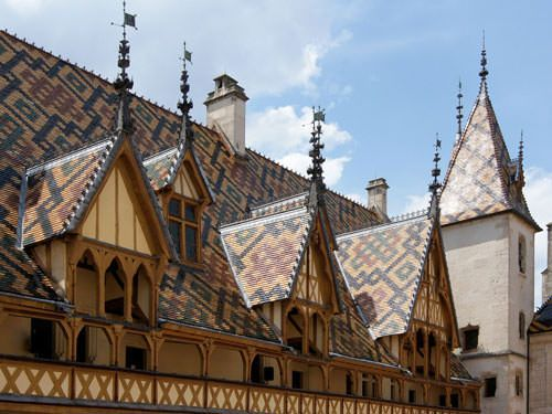 Hospices de Beaune - Details roofs