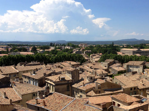 The roofs of Uzes