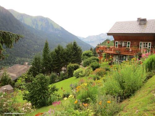 Mountain garden in Chatel
