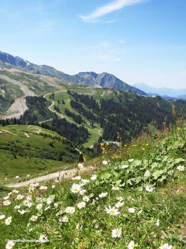 Chatel hiking trails in summer