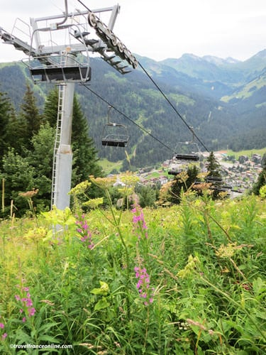 Chatel Ski lift used in summer
