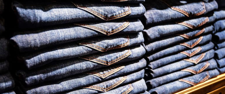 Denim, invented in Italy and initially made in France