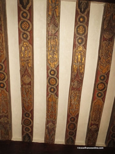 Maison d'Ourcamps - Ground-floor - medieval painted beams