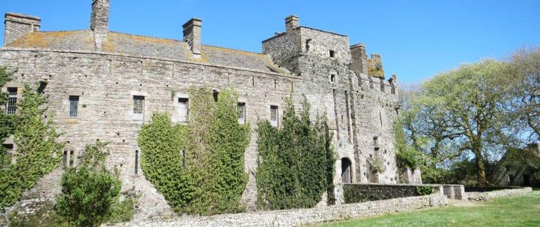 Chateau de Pirou, one of the oldest Norman castles