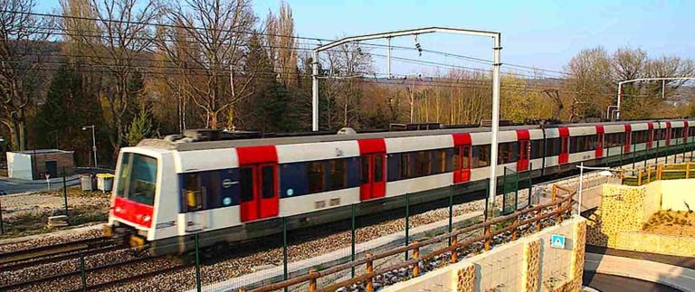 Express train RER from CDG Airport to Paris