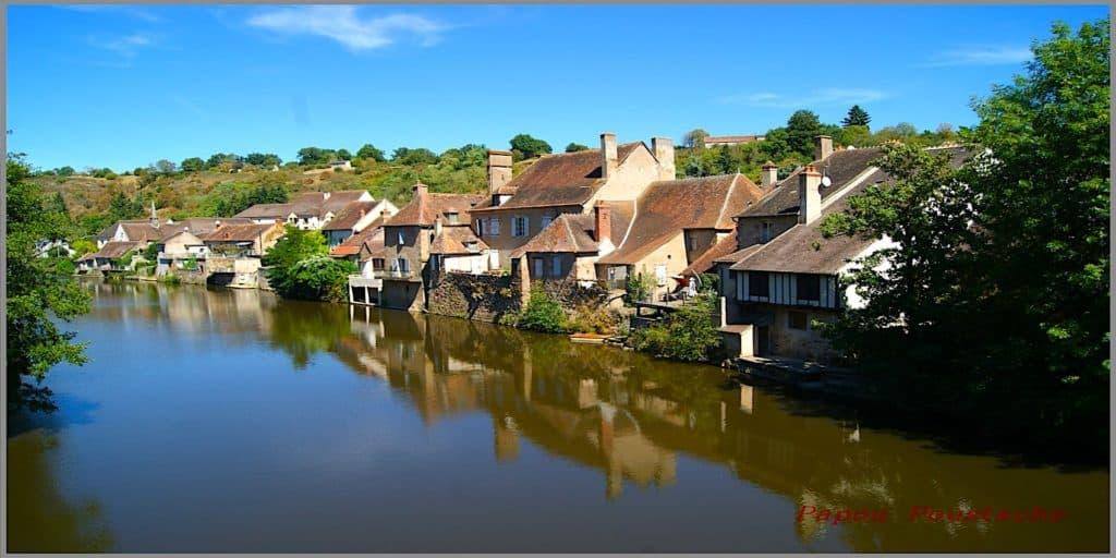 Herisson village in Auvergne