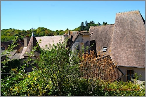 Herisson village roofs