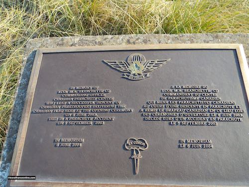 Memorial to Canadian Paratrooper Officer Blanchette