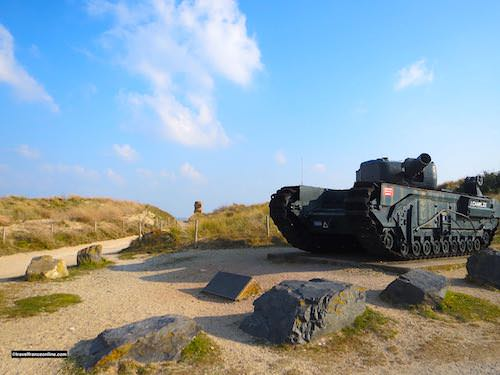 Churchill A.V.R.E. tank in Graye-sur-mer