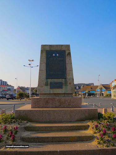 Liberation Monument in Corseulles-sur-mer