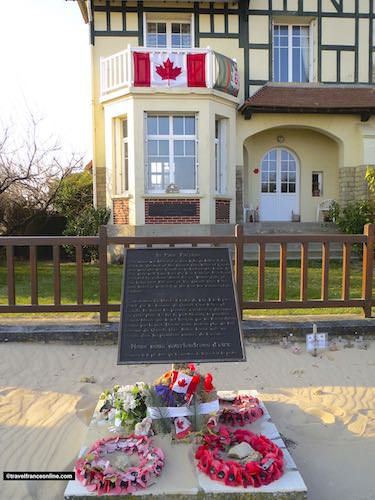 Queen's Own Rifles Monument in Bernieres-sur-mer