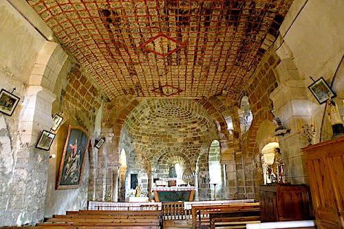 Chapel's ceiling