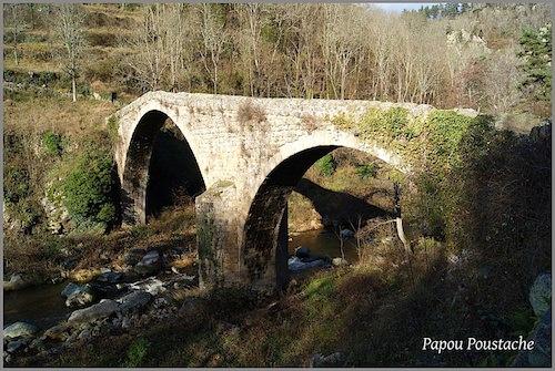 The two-arch Pont du Diable at Saint-André-de-Chalencon