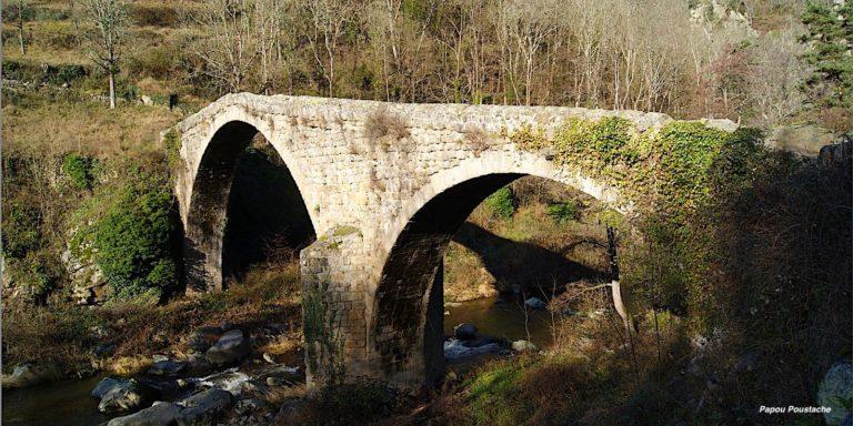 Pont du Diable medieval bridge in Chalencon