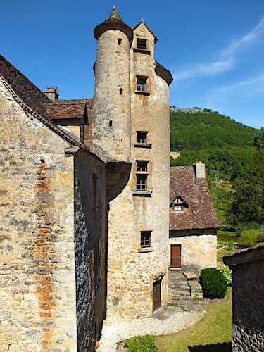 Chateau de Limargue stair tower - Autoire - Lot