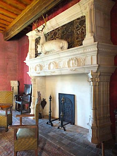 Chateau de Montal in the Lot - Renaissance fireplace