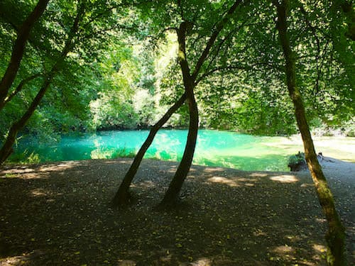 Resurgence of the Ouysse River at the Gouffre de Saint-Sauveur