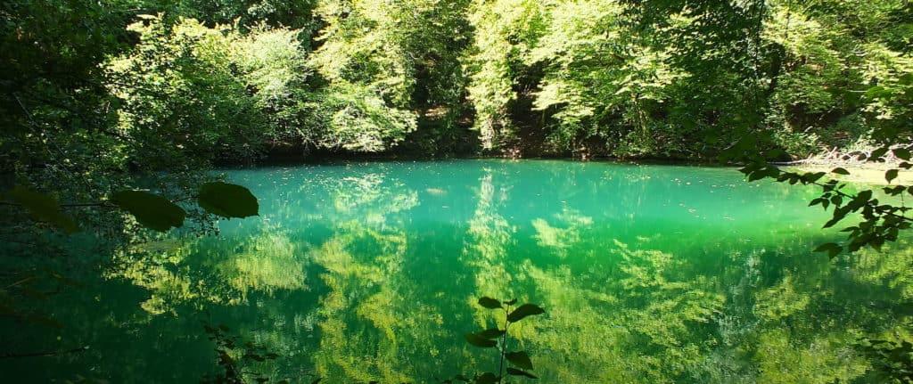 Gouffre de Saint-Sauveur- Resurgence of the river Ouysse near Cales - Lot - Quercy