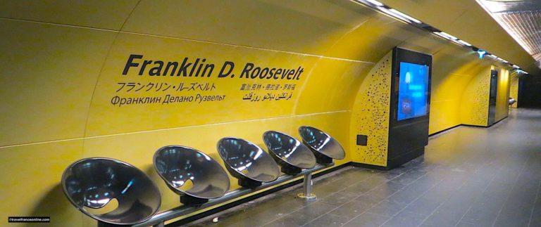Franklin D. Roosevelt Metro station, an international decor