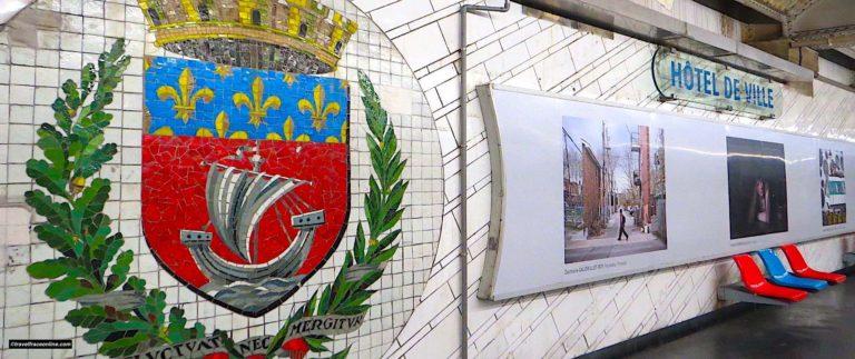 Hotel-de-Ville Metro station's decoration