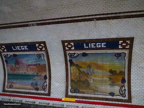 Liege Metro station - La Maison Curtius in Liege and La Vesdre Valley in Nessonvaux
