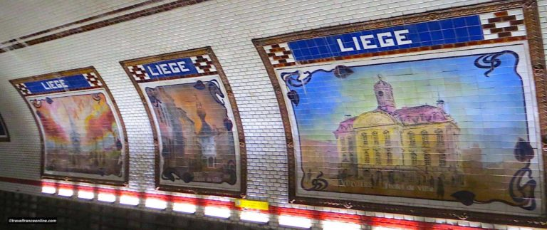 Liege Metro Station, a decor dedicated to Belgium