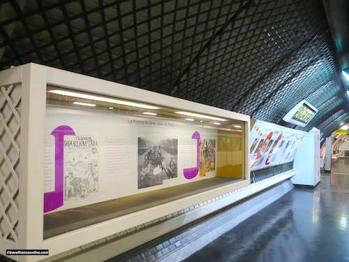 Parmentier Metro station - Decor dedicated to the potato