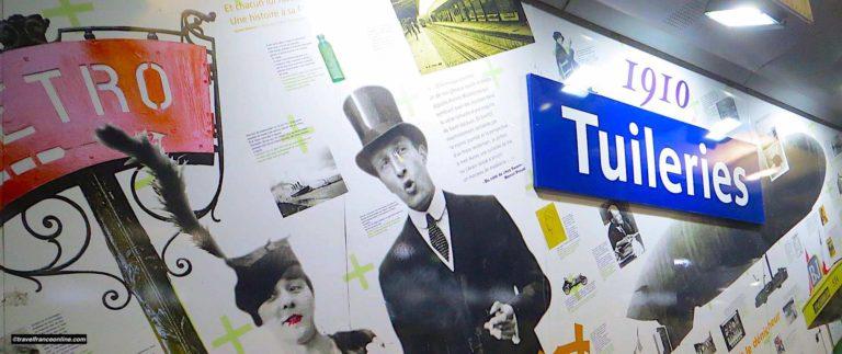 Tuileries Metro station celebrates the Metro's centenary