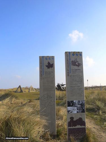 Path running from Juno Beach Centre to Graye-sur-mer memorials