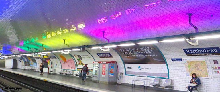 Rambuteau Metro station, a colourful station