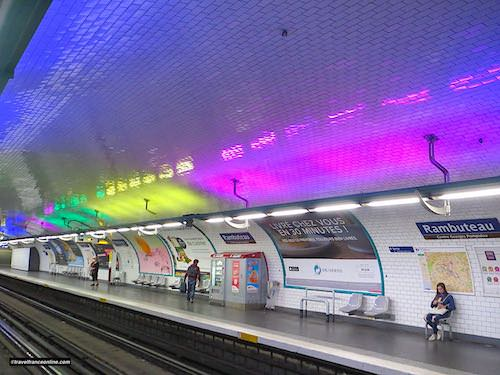 Rambuteau Metro station in Paris