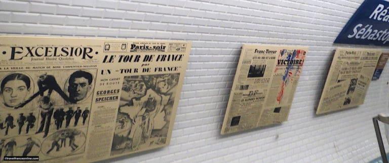 Reaumur-Sebastopol Metro station, a decor dedicated to printing