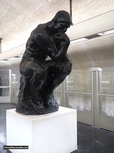 The Thinker by Rodin in Varenne Metro station