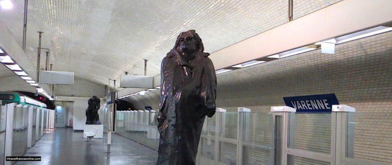 Varenne Metro station, a decor dedicated to Rodin