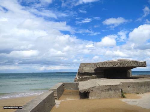 German bunker on Gold Beach and Mulberry Harbour - Gold Beach War Memorials