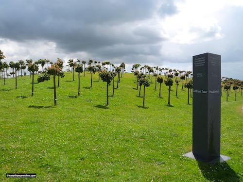 La Cambe German war cemetery - Jardin de la Paix - Peace Garden - Friedenspark