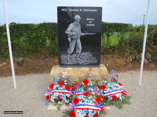 D-Day 75th Anniversary Commemorations - DeGlopper Memorial at La Fière