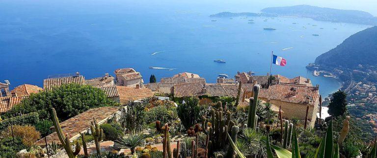 Eze village and botanical garden overlooking the Mediterranean